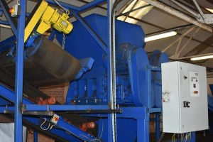 Conventional shredding process is used